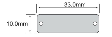 RFID抗金属电子标签opp3310尺寸