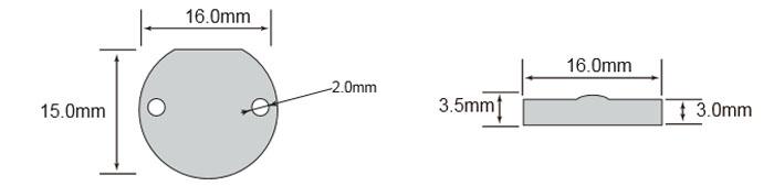 OPPD16标签尺寸