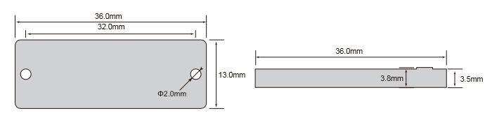 无源抗金属标签OPP3613尺寸