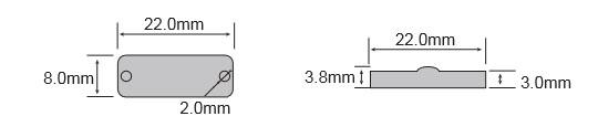 抗金属RFID标签OPP2208尺寸