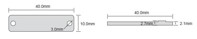 抗金属超高频标签OPP4010尺寸
