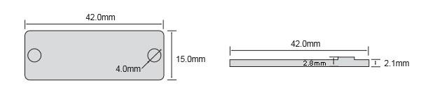 耐高温标签OPP4215尺寸